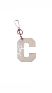 Personalised Wooden Bag Tag - Holiday Font