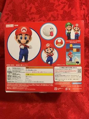 Mario (3rd-Run) Nendoroid - Nintendo Super Mario - inc. 3 Face Plates, Blocks, Coin, Mushroom, Buzzy Bettle and Boo - New in Box