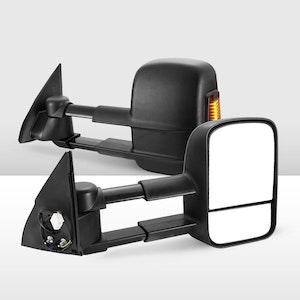 Pair Extendable Towing Mirrors for Toyota Prado 150 Series 2009 - ON