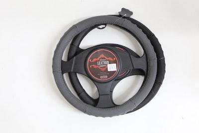 Denver Steering Wheel Cover - Grey [Leather]