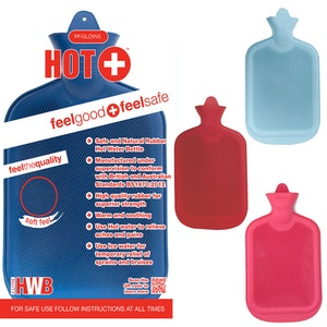 Boutique Medical 2L HOT WATER BOTTLE Winter Warm Natural Rubber Bag - ACCC Approved