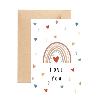 Aire Avenue Love You Rainbow Greeting Card