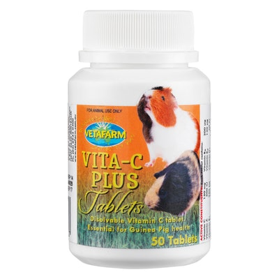 Vetafarm Vita C Plus Tablets for Guinea Pig Health 50 Pack