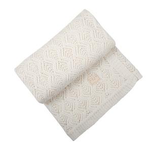 Jujo Baby Trellis Lace blanket - Milk