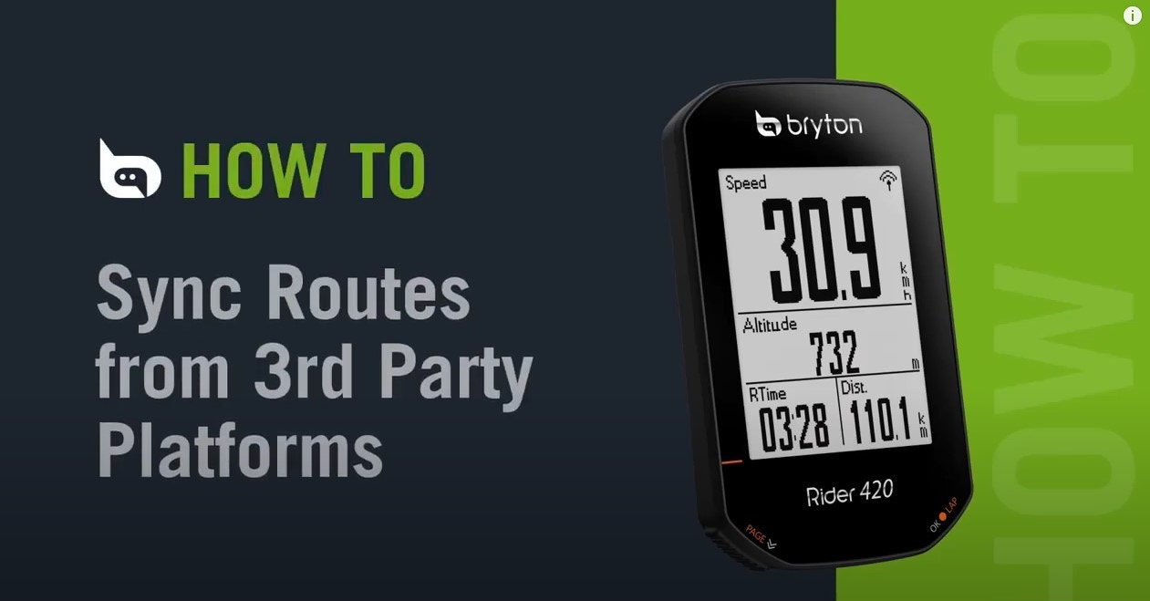 Bryton Rider 420 | Sync Routes from 3rd Party Platforms