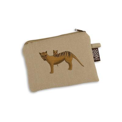 Art'N Green Thylacine / Tasmanian Tiger Organic Cotton PURSE - 14cm x 20cm