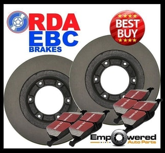 FRONT DISC BRAKE ROTORS+PADS for Mitsubishi Delica SPACE GEAR 4WD 2.8TD 1994-06