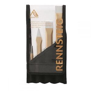 Rennsteig Centre Punch & Cold Flat Chisel 4pc Set