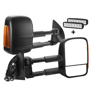 SAN HIMA SAN HIMA Pair Towing Mirrors for Ford Ranger MK PX PX2 PX3 XL XLT XLS Wildtrak 2012-ON