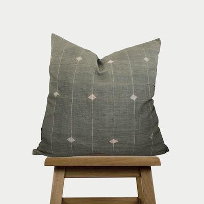 SATTVA WORLD Heena Throw Pillow cover- Green Cotton Stripe Cushion Cover - Hand-spun Handwoven Decorative Pillow Case - Australia 2021