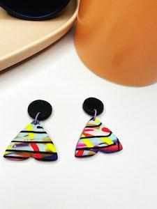 Rainbow Sprinkles Moth Dangle Earrings