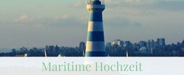 Maritime Hochzeit mit Leuchtturm am Strand