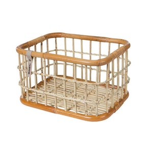 Basil Basket Rear Green Life Rattan L 30L Brown