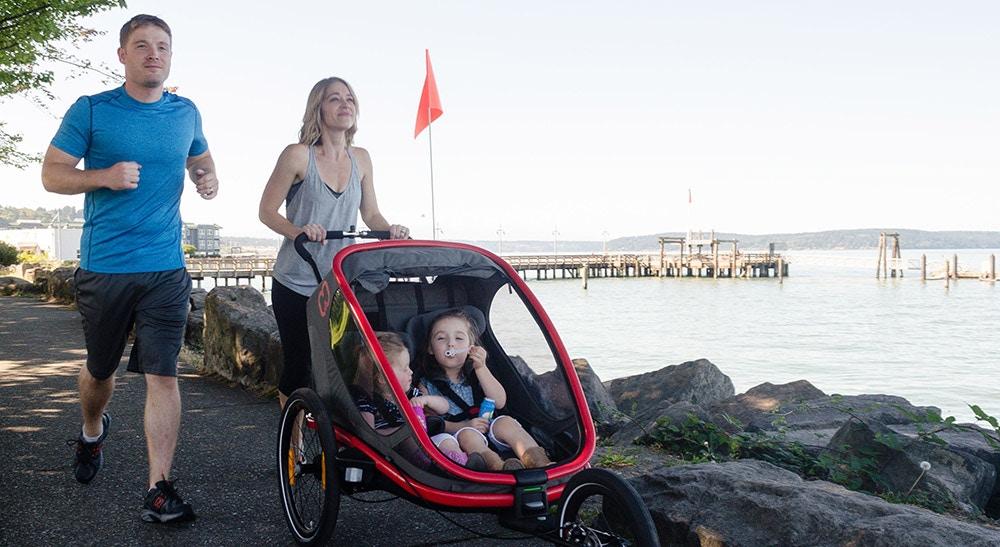 A versatile child bike trailer – the Hamax Outback