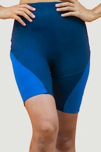 1 People Portland Biker Shorts in Sapphire Blue