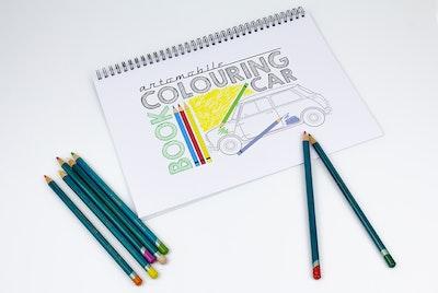 Artomobile Car Colouring Book