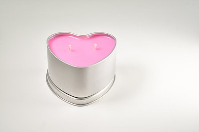 """MoeJoe Creations Raspberry Blowing, Sunshine and Vanilla"""" Natural Soy Wax Candle in Heart Tin"""