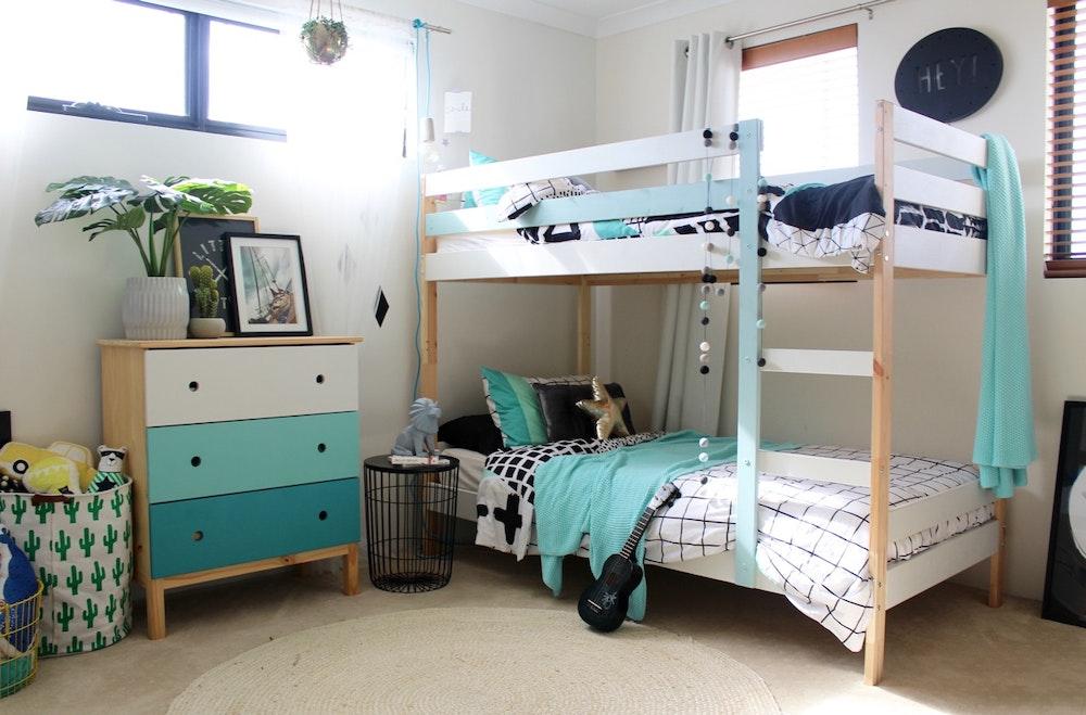 Transitional Tween Bedroom - Four Cheeky Monkeys