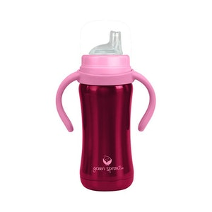green sprouts Sippy Cup made from Stainless Steel- 6oz-Pink-6mo+