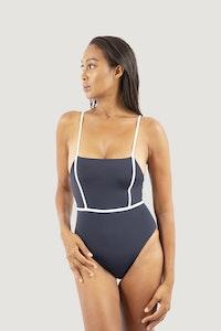 1 People Byron Bay One-Piece Swimsuit in Dark Blue Pebble