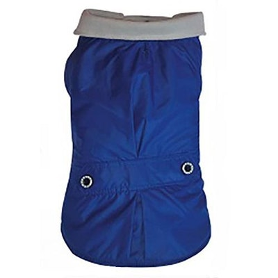 DoggyDolly SMALL DOG - Royal Blue Fleeced Rain Jacket
