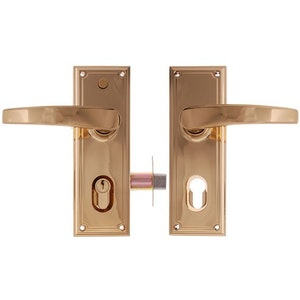 Gainsborough Trilock Traditional Leverset Double Cylinder Bright Gold