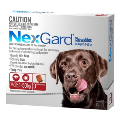NexGard Flea & Tick Treatment 25.1-50kg Dog