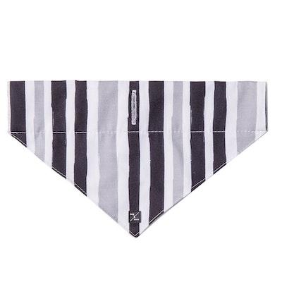 Mog & Bone Dog Bandana Pebble Black Brush Stroke Print - 3 Sizes