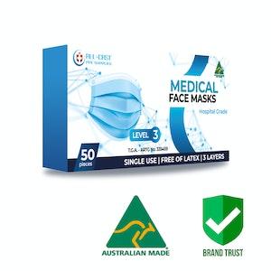 Australian Made Surgical Face masks Level 3