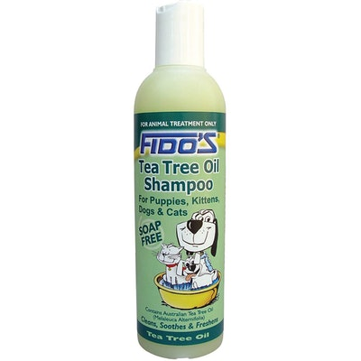 Fidos Tea Tree Oil Shampoo Grooming Aid Soap Free for Dogs & Cats - 3 Sizes