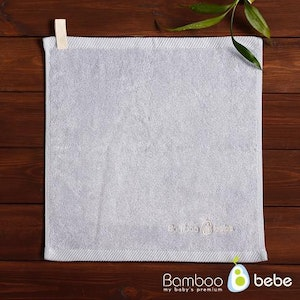 Bamboo Towel with Hanging Loop (Ash Blue)