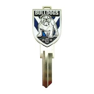 Creative Keys NRL Team Logo Key Blank TE2 - Canterbury Bankstown Bulldogs
