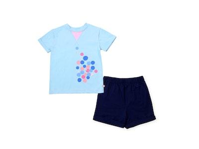 OETEO Australia Urban Kids Tri Collar Tee Set (Blue)
