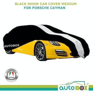 Black Med Show Car Cover Porsche Cayman 718 981 GT4 Carrera Boxter Early 911