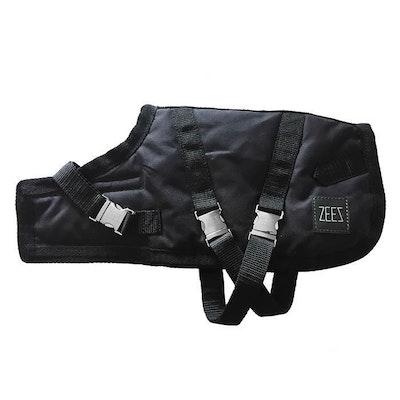 Zeez Supreme Waterproof Dog Coat Oil Skin/Black - 12 Sizes