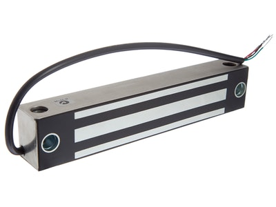 "Lox Locking LOX EM4500 250kg single electromechanical weather resistant magnetic mag lock ""Monitored"" SS"