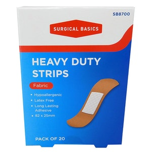 Surgical Basics Heavy Duty Fabric Strips Pack of 20