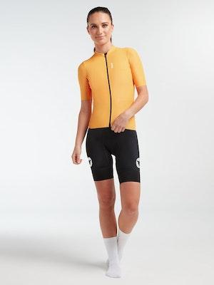 Black Sheep Cycling Women's WMN LuxLite Jersey - Yellow Wave