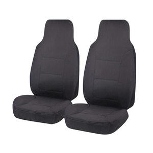 All Terrain Car Seat Covers For Toyota Hiace Trh-Kdh Series Single/Crew Cab Lwb Van 2005-2019 | Charcoal