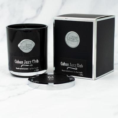 MoeJoe Creations 290g/10.2oz Cuban Jazz Club Scent Man Candle in Black Tumbler 2021