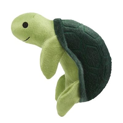 Spunky Pup Sea Plush Turtle Dog Squeaker Toy - 2 Sizes