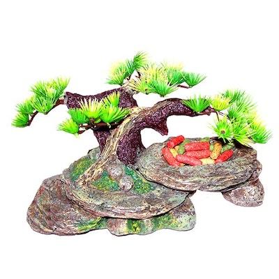 URS Rocky Arch w/ Bonsai & Top Bowl Reptile Accessory