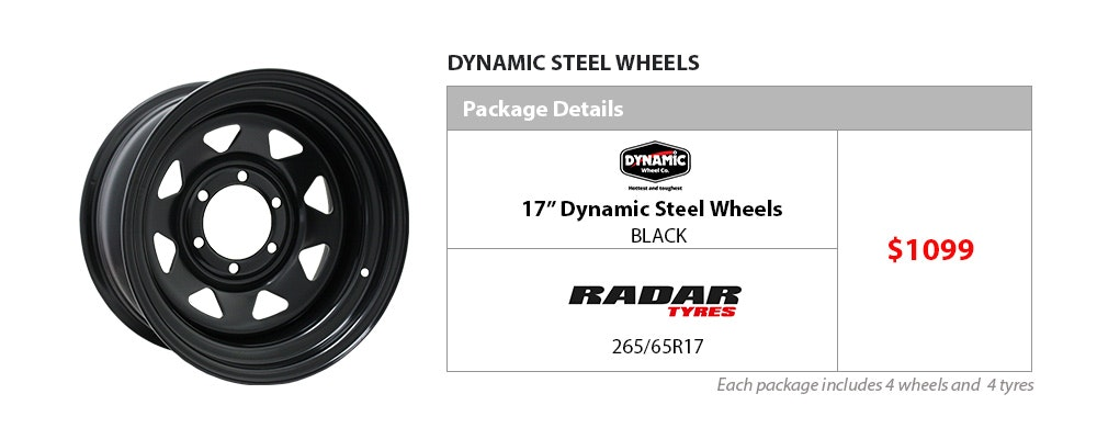 Wheel & Tyre Package - Dynamic and Radar | Bob Jane T-Marts