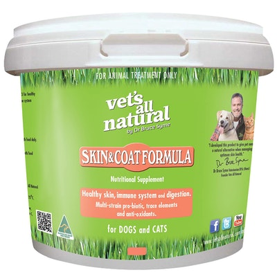 Vets All Natural Skin & Coat Formula Supplement for Cats & Dogs - 3 Sizes
