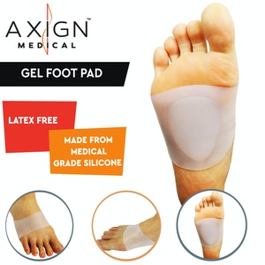 Boutique Medical 1 Pair AXIGN Medical Silicone Metatarsal Gel Sleeve Bunion Foot Pad Support