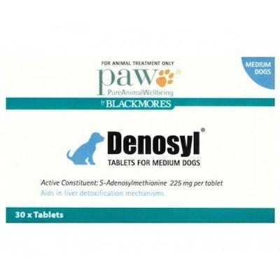 Paw Denosyl Medium Dogs Liver Detoxification Aid Tablets 225mg 30 Pack