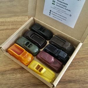 Eco Crayons Cars and Trucks - 100% Natural, Plant Based Crayons