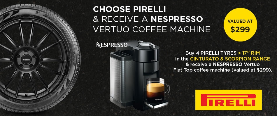 Pirelli Coffee Machine Promotion
