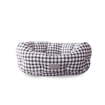 Fringe Studio Gingham Round Cuddler Dog Bed
