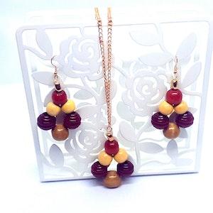 Rayhana's Store Sydney handmade wooden beaded jewellery set
